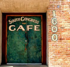South Congress Cafe, Austin TX... mmmm so good  1600 South Congress Ave  Austin, Texas 78704    (512) 447-3905    HAPPY HOUR Monday - Friday 3pm - 6pm