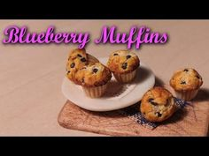 ▶ Miniature Blueberry Muffins - Polymer Clay Tutorial - YouTube