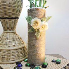 Make A Rustic Vase Pringles Can/ Faça Um Vaso Rústico de Lata Pringles