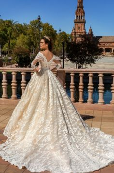 Princess ball gowns are perfect for an ultra feminine look if you want to show off your super sweet girly side. To add drama match the look with a long cathedral train. Please contact the designer …