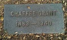 Chaffee Grant on Find A Grave.