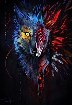 beautiful animal art Awesome is part of Best Awesome Animal Art Images Drawings Paintings - Face Your Demons by FionaHsieh Dark Fantasy Art, Fantasy Wolf, Dark Art, Anime Wolf, Wolf Wallpaper, Animal Wallpaper, Graffiti Art, Art And Illustration, Wolf Artwork