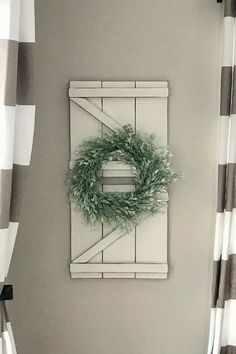 Farmhouse style decorative wood Z Shutters | Rustic Home Decor | Wall Decor | Gallery Wall Ideas | MintySalvage on Etsy #farmhouse #rusticdecor #homedecor #ad #decor