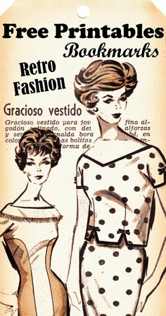 Boulevard de Lantique - Retro Scraps: Free Printable Retro Fashion Bookmarks/Tags