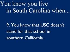 So true. Sometimes when I am reading a book and they say USC I have to remind myself what they are talking about.