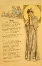 1917 YMCA MALE CHASTITY VIRGINITY WWI STD POSTER ELLA WHEELER WILCOX PRINT 1380