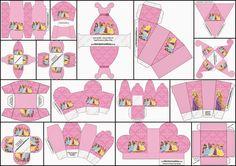 Disney Princess Pary: Free Printable Boxes.