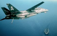 F-14A of VF-84 over USS Roosevelt 1993 | Flickr - Photo Sharing!
