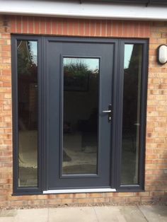 Go and visit our website page for a little more in regard to this magnificent photo Aluminium Front Door, Timber Front Door, Grey Front Doors, Front Doors With Windows, Front Door Entrance, House Front Door, Back Doors, Glazed External Doors, External Front Doors
