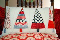 another Christmas pillow by Meredith Daniel, via Flickr