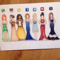 ¿Llevarías un vestido con el logo de Twitter o Instagram?, las redes sociales se…