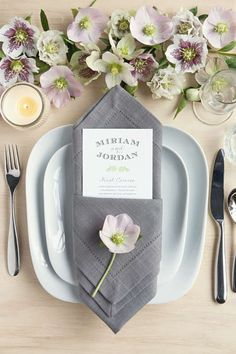 Sophisticated Garden-Themed Place Setting