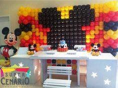 SUPER CENÁRIO: Decoração Clean Personalizada Mickey