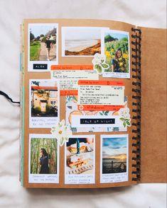 Travel Journal Scrapbook, Bullet Journal Travel, Bullet Journal Books, Scrapbook Albums, Scrapbook Photos, School Scrapbook, Diy Album Photo, Polaroid Photo Album, Album Photos