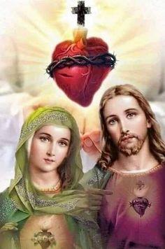 Jesus E Maria, Cross Pictures, Jesus Christ Images, Religion Catolica, Mary And Jesus, Heart Of Jesus, Divine Mercy, Goddess Lakshmi, Religious Icons