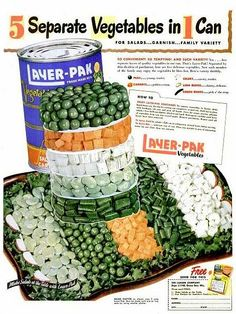 Layer-Pak Canned Vegetables -- 1948
