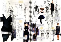22 Ideas fashion sketchbook inspiration projects drawings for 2019 Mode Portfolio Layout, Fashion Portfolio Layout, Fashion Design Sketchbook, Fashion Design Portfolio, Portfolio Book, Fashion Sketches, Fashion Layouts, Fashion Design Degree, Portfolio Examples