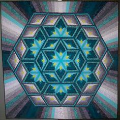 Diamond Log Cabin Star Quilt