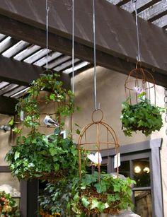 metal wire garden decorations, diy handmade