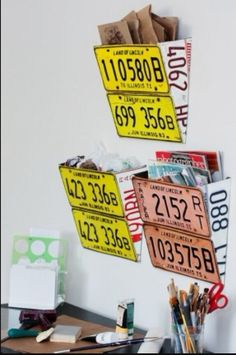 Vintage License plate decor