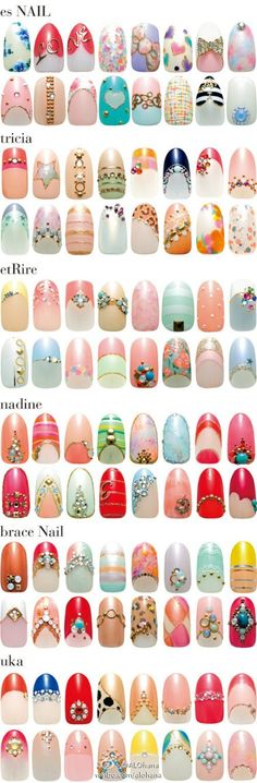 Cute nails for fun and fashion. Right click on the above tool bar to translate to English.  #nailart  #nails