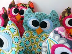 Owl rice heating pads for children.