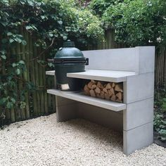 Outdoor patio kitchen bbq big green eggs 32 Ideas for 2019 Patio Kitchen, Outdoor Kitchen Design, Green Kitchen, Outdoor Kitchens, Concrete Patios, Backyard Covered Patios, Backyard Patio, Patio Table, Diy Patio