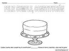 tarta de cumpleaños, día de la constitución Constitution Day, Projects, Nursery Rhymes, Birthday Cake, One Day