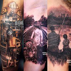 Daddy Tattoos, Up Tattoos, Funny Tattoos, Sleeve Tattoos, Cool Tattoos, Tatoos, Father Son Tattoo, Father Tattoos, Tattoo For Son