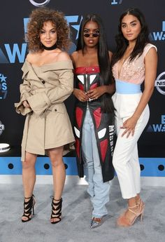 Ryan-Destiny Photos Photos - (L-R)Jude Demorest, Ryan Destiny, and Brittany O'Grady at the 2017 BET Awards at Microsoft Square on June 25, 2017 in Los Angeles, California. - 2017 BET Awards - Arrivals
