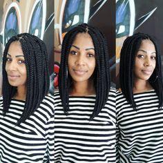 Chunky Box Braids, Box Braids Updo, Bob Braids, Braids For Short Hair, Braids Hairstyles Pictures, Twist Braid Hairstyles, Twist Braids, Hair Pictures, Protective Hairstyles