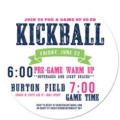 kickball & cool flyer design