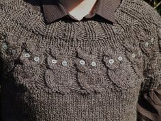 Free Knitting Pattern For Owl Sweater : 1000+ images about Knitting Patterns on Pinterest Cardigans, Cardigan patte...