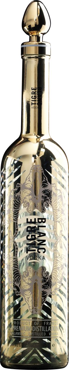 Tigre Blanc - Made in the Cognac region of France and distilled six times in French alembic copper stills, this vodka helps preserve endangered African white tigers by making a pledge  to the Panthera Foundation for every bottle sold.