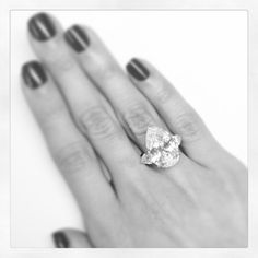 Pear-shaped Diamond Ring. Follow #christiesjewels every Tuesday on Instagram.