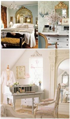I would like to have a bedroom like this     #french bedrooms