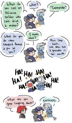 Mass Effect - Nothing. by ~ oranjielub Hahaha, poor Shep.