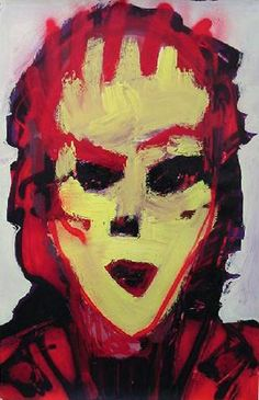 """Skot Foreman Gallery Nick  Vukmanovich """"Portrait X"""" 2001 Acrylic and spray paint on paper    37 x 25 in  94 x 63 cm Hand-signed """"N Vukmanovich"""""""