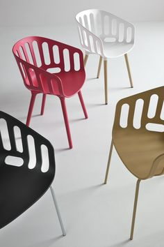 Alessandro Busana designs rattan-container inspired chair for Gaber