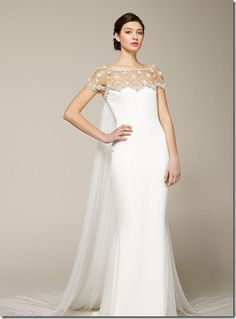 unique designer bridal gown 2012 for fall wedding