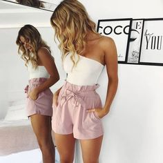Cute Casual Outfits, Simple Outfits, Short Outfits, Pretty Outfits, Spring Outfits, Casual Pants, Stylish Outfits, Simple Dresses, Gym Outfits