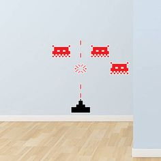 Small Space Invaders Wall Stickers 13.99 +S&H