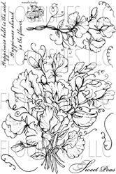 stamps, Flourishes, flowers