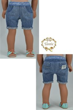 American girl doll clothes OOAK Short Jeans by PurpleRoseNY2nd