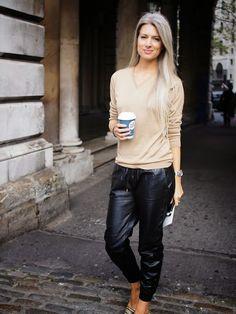 Street Muses...Somerset House, London...Sarah Harris #chic #streetstyle