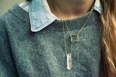 Square Lariat Necklace