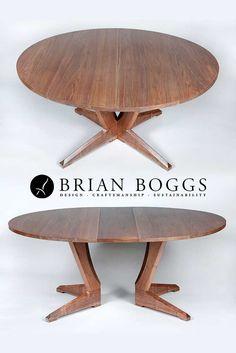 Contemporary Split Pedestal Extension Table - HandMade