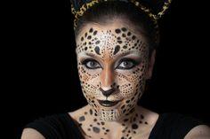 maquillaje de fantasia de leopardo