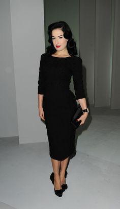 Dita Von Teese basic and classic black dress