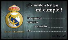 Real Madrid FC - Tarjetas de cumpleaños para imprimir